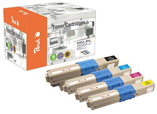 Preisvergleich Produktbild Peach Spar Pack Tonermodule kompatibel zu OKI 44469803, 44469704, 44469705, 44469706