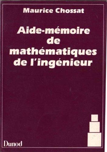 AIDE-MEMOIRE DE MATHEMATIQUES DE L'INGENIEUR