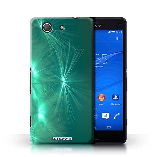 KOBALT® Hülle Case für Sony Xperia Z3 Compact | Rosa Entwurf | Life Light Kollektion Türkis