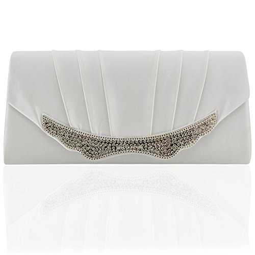 ESSEX GLAM WOMENS BRIDAL CLUTCH BAG SPARKLY DIAMANTE EVENING HANDBAGS CRYSTAL WEDDING Essex Crystal