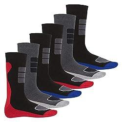 Footstar 6 Paar Herren Thermo Socken Vollfrottee-39-42