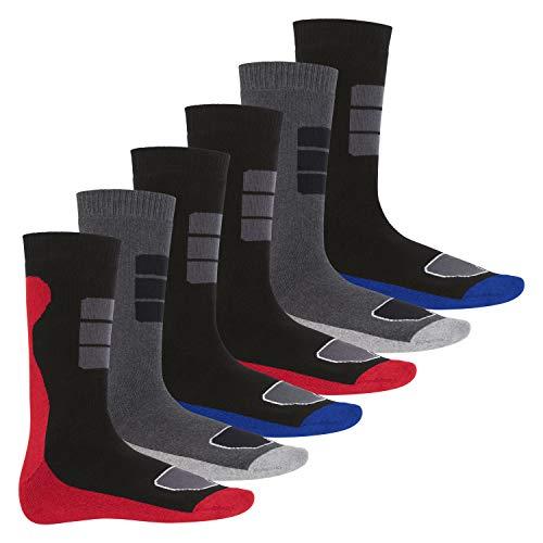 Footstar 6 Paar Herren Thermo Socken Vollfrottee-43-46