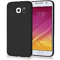 MyGadget Funda slim para Samsung Galaxy S6 Duos ultra Delgada 0,8mm - Carcasa liviana en Silicona TPU protectora cómoda y ligera - Negro