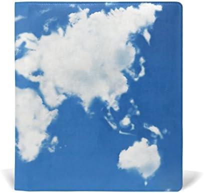ALAZA Carte du monde Nuages en forme réutilisable réutilisable réutilisable livre en cuir couverture 9 x 11 pouces pour moyen à la taille Jumbo Relié Livres scolaires Femmeuels scolaires B078XGLJPS | Doux Et Léger  861887