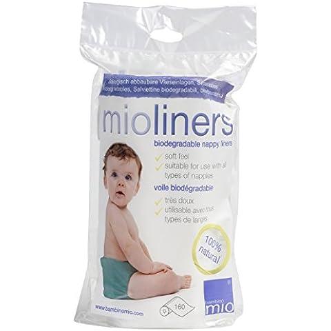 Bambino Mio BL160 Mioliners Salviettine, Bianco, 160 Strappi