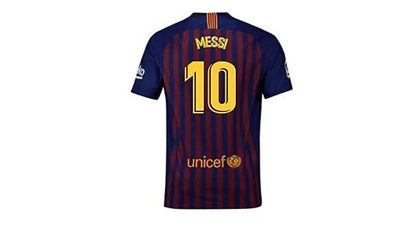 ba66c6a2e5f 2018-2019 Barcelona Home Nike Football Soccer T-Shirt (Lionel Messi 10):  Amazon.co.uk: Sports & Outdoors