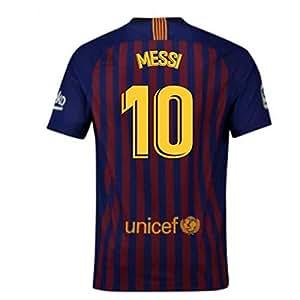 f289a3b84fb 2018-2019 Barcelona Home Nike Football Soccer T-Shirt (Lionel Messi ...