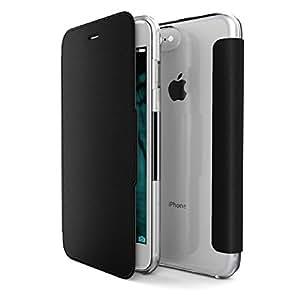 iPhone 7 Caso Inoltre, X-Doria (Engage Folio) Custodia per iPhone 7 Plus, cassa del raccoglitore di vibrazione con una chiusura magnetica, 2 slot per schede, Premium di protezione iPhone 7 Caso più(Nero)