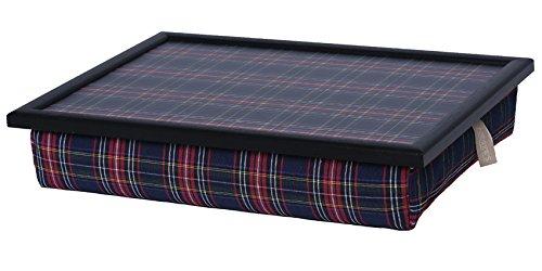 Andrew´s Knietablett Laptray mit Kissen Tablett für Laptop Check Blue -