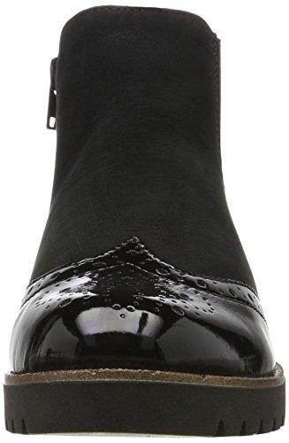 Remonte Damen D0178 Chelsea Boots Schwarz (Schwarz/Schwarz / 02)