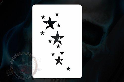 Minis Sternchen Sterne Airbrush Schablone - Stars Stencil - Stern-schablonen