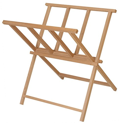 Beechwood Print Storage Rack Wooden Artwork Display Browser Stand