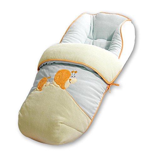 Saco para silla de bebe universal. Bordado CARACOL. Muy Suave, cálido y confortable. Piel de melocotón.