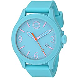 ESQ by Movado Women's 42mm Turquoise Silicone Band & Case Quartz Analog Watch 07101432