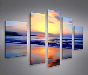 Dreamin mf 5 quadri moderni su tela pronti da appendere for Amazon quadri