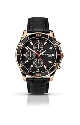 SEKONDA 1051 - Reloj de cuarzo para hombres, correa de acero inoxidable, color negro de Sekonda