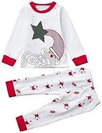 06076d8893 Kinderkleidung Babykleidung Set Longra Baby Kinder Junge Mädchen Schlafanzug  Pyjama Set Hausanzug Sleepwear Weihnachten Nachtwäsche…
