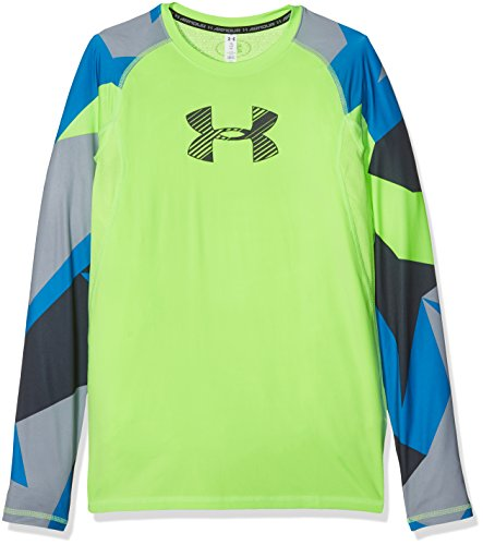 Under Armour Jungen HG Novelty Longsleeve Langarmshirt, Quirky Lime, L