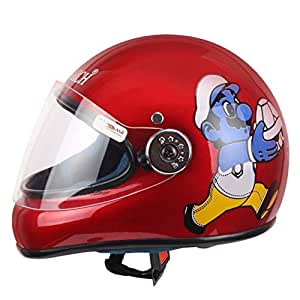 Monarch Junior Full Face Helmet for Kids from 3 to 6 Years (Red,Size-Extra Small)