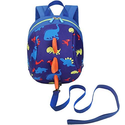 DB Mochila de dinosaurio para niños pequeños con cuerda de seguridad...
