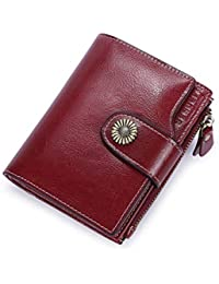 7bec3e718e Portafoglio Donna in Pelle, RFID Portafogli Donna Piccoli con Portamonete,  Portafoglio da Donna Piccolo