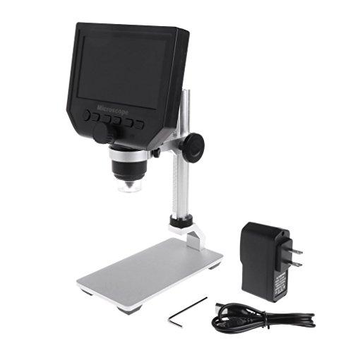 Hergon G600 Digital Elektronisch Mikroskop, mit 4.3 Zoll 3.6MP LCD Anzeige, 8 LEDs Einstellbar...
