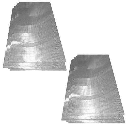 Deuba | 14x Polycarbonat Hohlkammerstegplatten 4mm | 10,25 m² Doppelstegplatte - 1210x605 | Stegplatte Gewächshausplatte