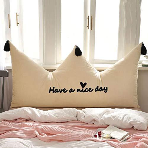 SJJOZZ Rückenlehne Bett große Rückseite Schlafzimmer einfache Moderne Rückseite Sofa Taille Kissen Kissen abnehmbar und waschbar Größe optional (Color : C, Size : 150cm) -
