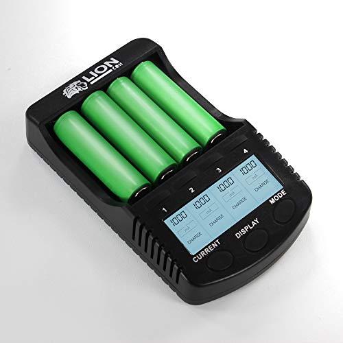 Lioncell LC4000D 18650 Cargador pilas recargable charger