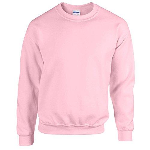 Rosa Damen Sweatshirt (Gildan Heavy Blend Erwachsenen Crewneck Sweatshirt 18000 L, Light Pink)