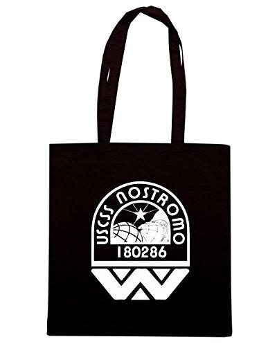 T-Shirtshock - Borsa Shopping TGAM0082 USCSS Nostromo Crew Logo Nero
