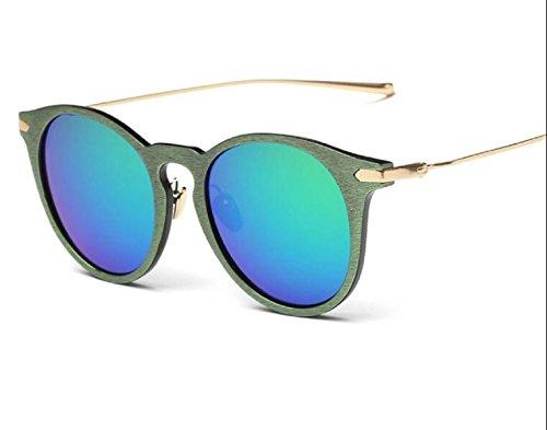 Koreanische Version Tide Section Retro Sonnenbrille Sonnenbrille Influx Der Menschen Sonnenbrillen Mode Männer Und Frauen Personalisierte Holz Korn,A4