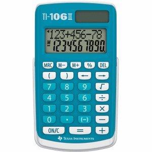 Preisvergleich Produktbild Texas Instruments Taschenrechner TI-106 8-stellig Batterie / Solarbetrieb blau