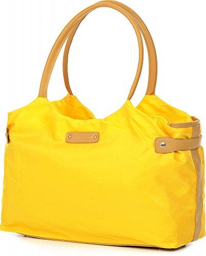 ARA BAGS, Damen Handtaschen, Henkeltaschen, Schultertaschen, 43,5 x 23,5 x 14 cm (B x H x T) Gelb