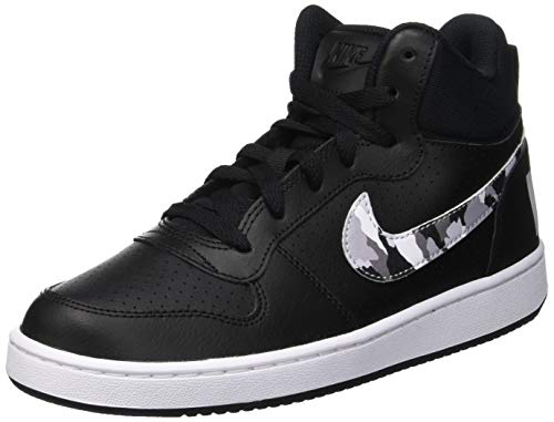 Nike Jungen Court Borough Mid (gs) Basketballschuhe, Mehrfarbig (Black/Multi-Color-Pure Platinum-White 008), 36.5 EU