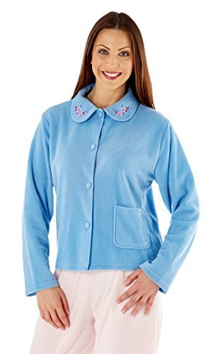 Lady Olga Superb Fleece Night Bed Jackets - Colours + Sizes - 41U2IGO1AbL - Lady Olga Superb Fleece Night Bed Jackets – Colours + Sizes