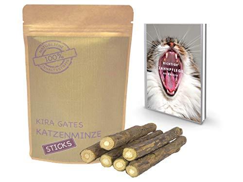Kira Gates - Bastoncini di Menta Naturale per Gatti, Confezione Risparmio da 5 + 1