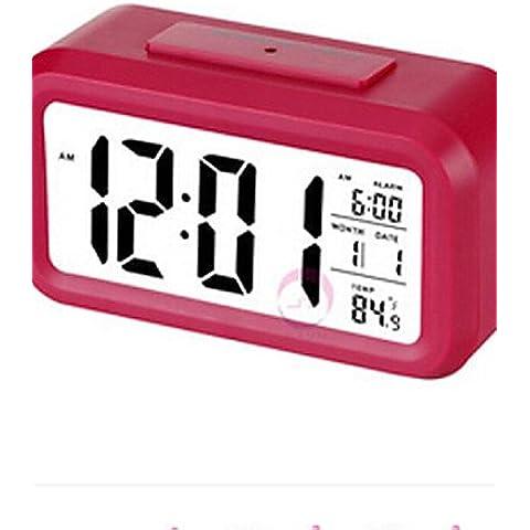 LBLI mesa de noche luminoso reloj electrónico reloj abs alarma creativa pantalla grande , white JIAJU-YONGPING #2644