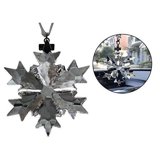 Cristal de luxe Décoration de flocon de neige Pendentif, décoration Intérieur de voiture Rétroviseur Bijoux, décoration d'arbre de Noël