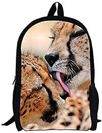 Moda Leopardo Mochila para niños Back to School Book Bag Teenager 16.5 Pulgadas
