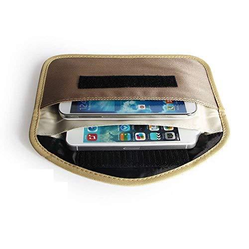 Mengshen® anti-rastreo anti-espionaje contra la radiación anti-anti-desmagnetización señal de la bolsa de bloqueador de señal Jammer, teléfono celular del auricular Función caja de la bolsa del monedero de MS-PX03Beige