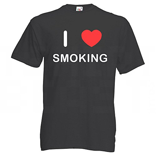 I love Smoking - T Shirt Schwarz