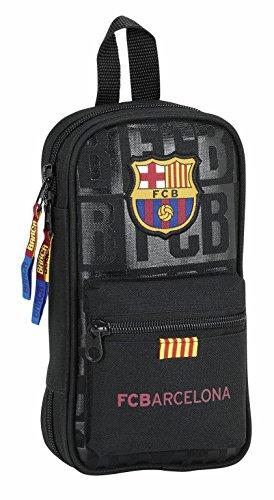 Futbol Club Barcelona – Plumier mochila con 4 portatodos llenos color negro (Safta 411725747)