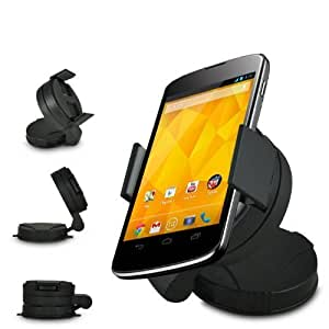 ONX3 Universal UniSuction 360 In-Car Windscreen Suction Holder Mount for LG E960 NEXUS 4