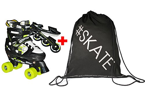 SET - TEMPISH VERSO TRIPLE 3-in-1 Rollschuhe/Inline Skates/Schlittschuhe + ULTRAPOWER Beutelrucksack | Kinder | Jugendliche | Größenverstellbar | 26-29 | 30-33 |...