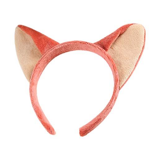 STOBOK Fuchs Katze Ohren Stirnband Weihnachtskostüm für Erwachsene und Kinder (Pink + ()