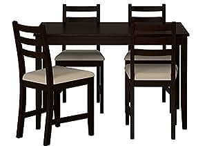 Lot d'une table et 4 chaises noir IKEA (modèle LERHAMN)
