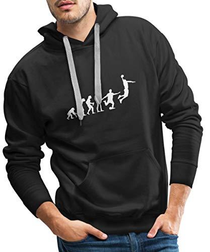 Spreadshirt Basketball Evolution Fussball Männer Premium Hoodie, XL, Schwarz