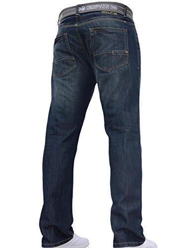 Crosshatch - Jeans - Droit - Homme noir foncé
