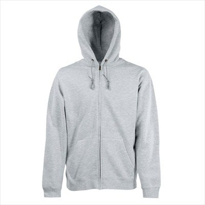Fruit of the Loom - Kapuzen Sweat-Jacke 'Hooded Zip' M,Heather Grey